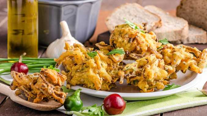 Try these tasty onion bhaji as an entree or as nibbles with drinks.
