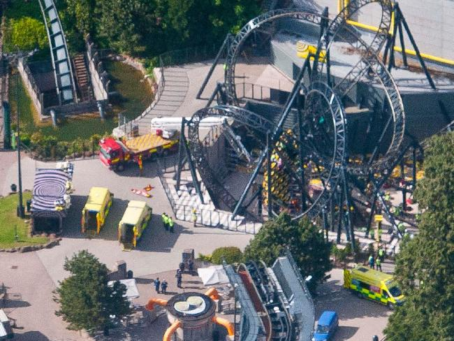 Alton Towers operators Merlin were fined £5m ($8.1m) after accepting responsibility for the Smiler rollercoaster crash that left four people with life-changing injuries.Source:Supplied