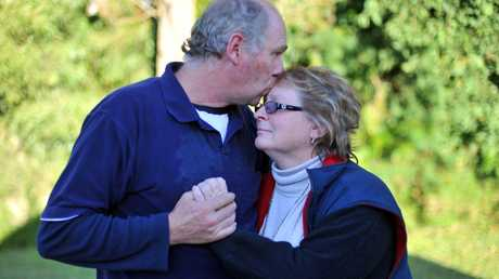 SAD LOSS: Brett and Bonnie Scovell are distraught after the death of their 21 year old Son Sean in a mining accident. Photo: Scottie Simmonds / NewsMail