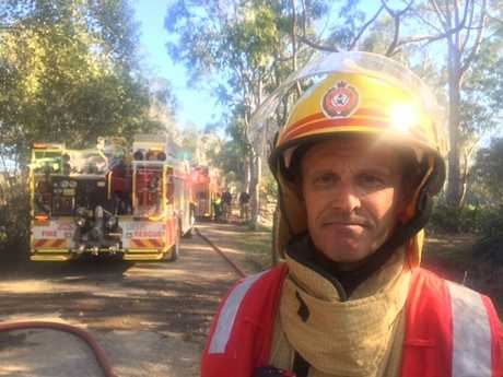 NOOSA FIRE: Station Sfficer Brenden Riches praised the crews for their work at Noosa North Shore.