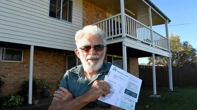 GOING UP: Joe Goni is unhappy fixed charges on his electricity bill have more than tripled in four years.