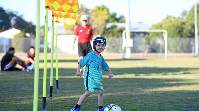 PUMPED: Blake Sindel will play football at Martens Oval today.