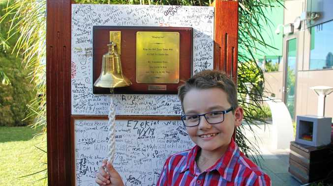 Nine-year-old Anthony Kiely rang the bell at Lady Cilento Children's Hospital on August 4, marking the end of he treatment for Acute Lymphoblastic Leukaemia (ALL) which he was diagnosed with on February 25, 2014.
