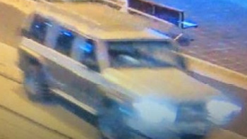 Police are searching for the driver of a green four-wheel drive after a hit and run in Surfers Paradise in the early hours of this morning. Picture: Queensland Police Service