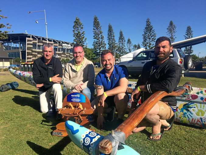 WATERLIFE: Winning team members from RGD Group Peter McKendry, Grant Gibson, Admir Lupic and Kalint Grabbe at Waterlife 2017.
