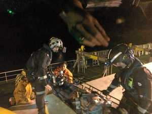 Late night rescue for Filipino crewman