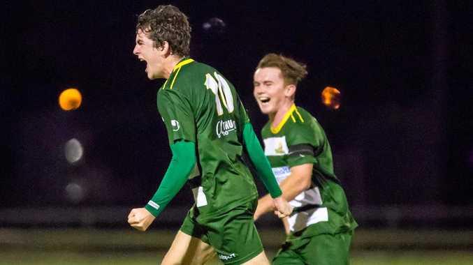 Western Pride striker Joe Duckworth savours his latest goal-scoring feat.