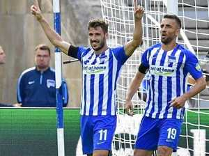 Mathew Leckie's double celebration