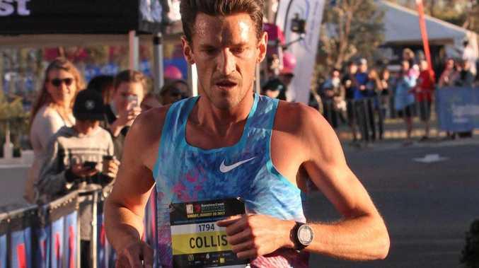 HALF MARATHON CHAMP: Collis Birmingham at the Sunshine Coast Marathon and Community Run Festival.