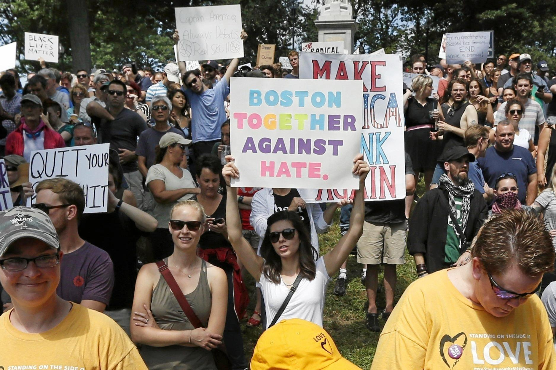 Counterprotesters make their point at a