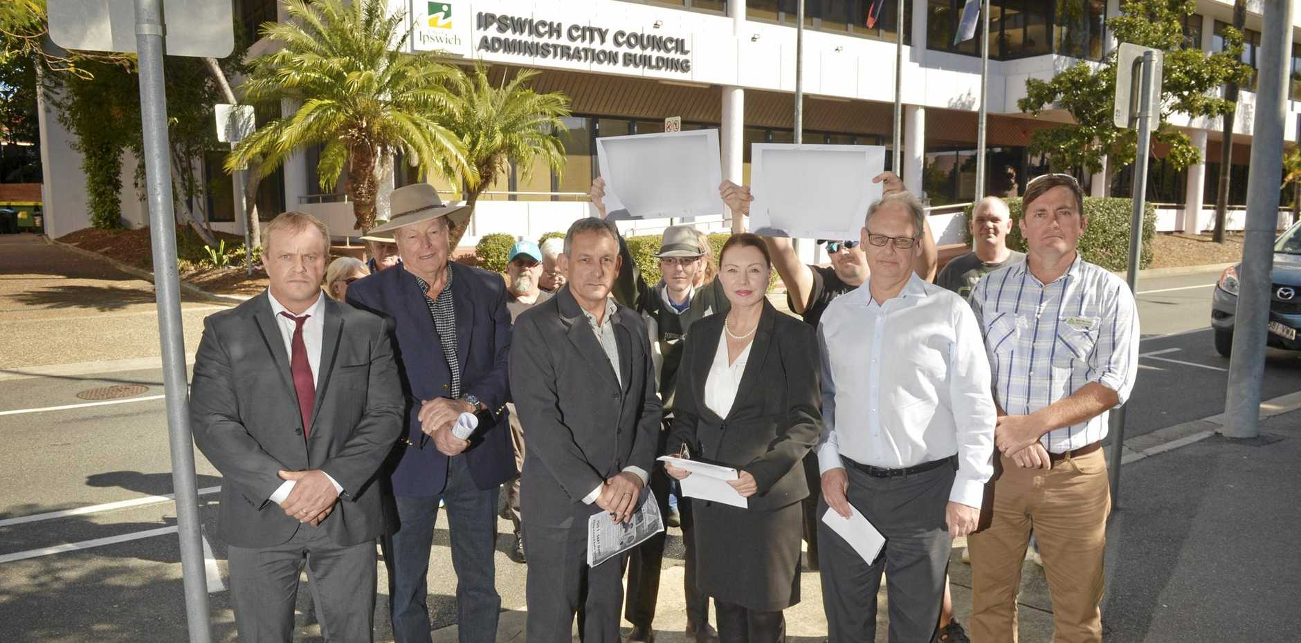 THE OTHERS: Voters may see some familiar faces when some Ipswich residents head back to the polls to elect a new divisional councillor . Pictured: (L-R) Paul Rix, Jack Paff, Gary Duffy, Patricia Petersen, Peter Robinson and Brett Morrissey.