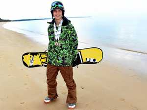 The top junior snowboarder who lives by the beach