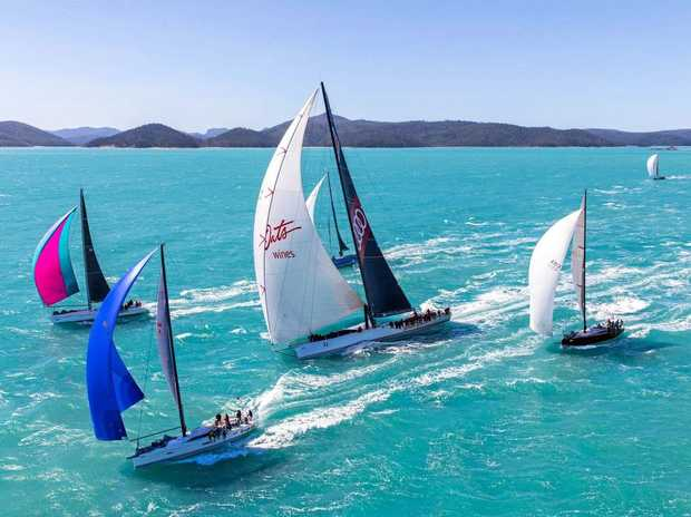 Prince of Denmark Frederik is racing on Wild Oats in the Whitsundays.