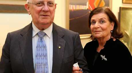 Owner Adrienne Dan (right) of the Rose Bay estate, pictured with husband, eminent neurosurgeon, Dr Noel Dan.Source:Supplied