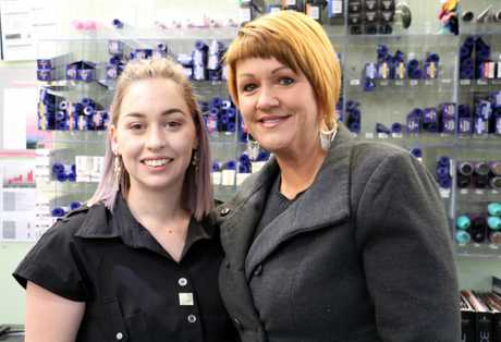 WorldSkills competitor Stephanie Raux with her model Louise Clayton.