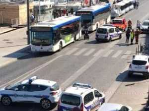 A  least one dead after car slams into bus stop in France