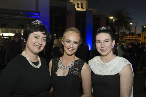 Celebrating excellence in business last year are (from left) Rosie Kent, Ash Wright and Ashlee Adams at the Heritage Bank Business Excellence Awards.