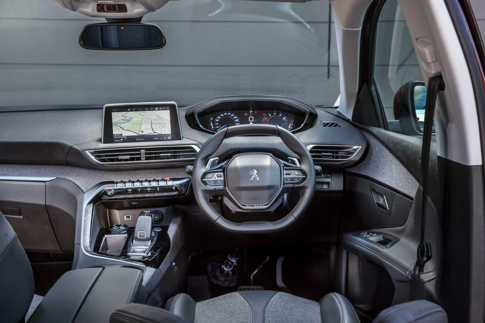 Inside the new Peugeot 3008.