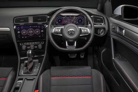 Inside the 2017 Volkswagen Golf GTI.