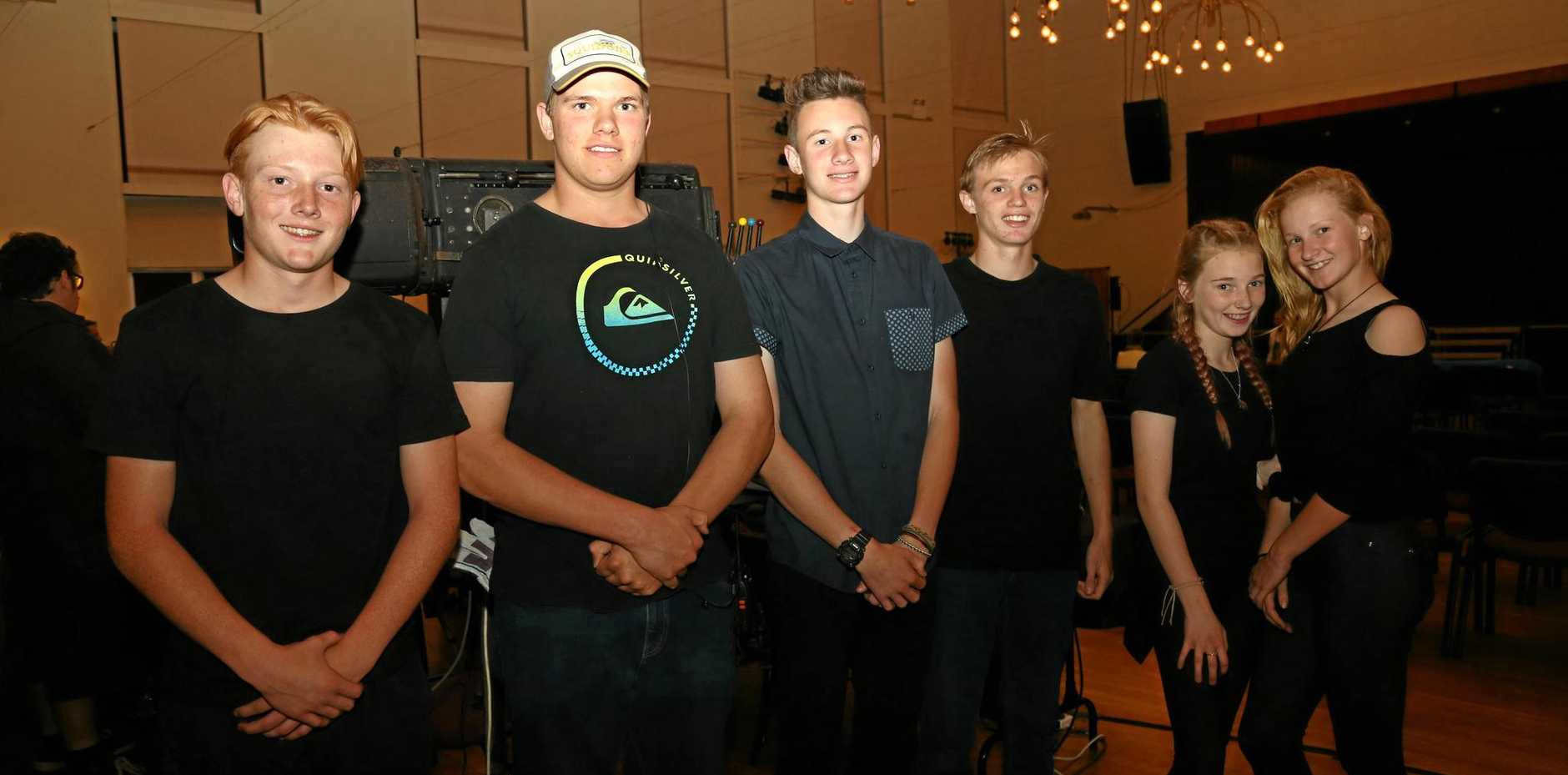 HANDS ON: South Burnett students were part of the backstage crew.