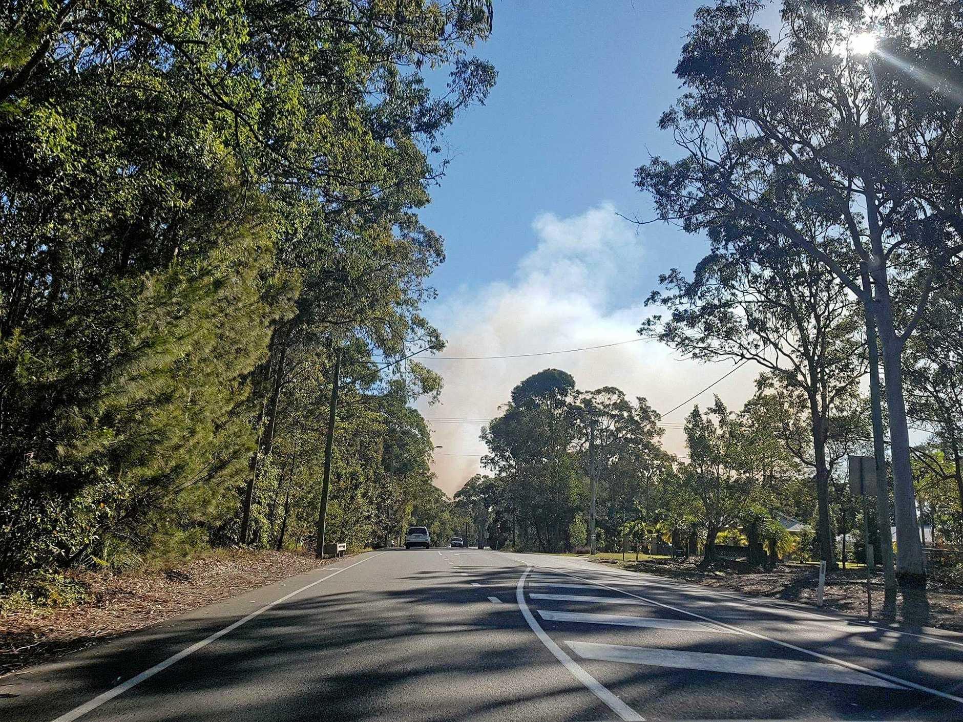 Tewantin National Park fire on Sunday.