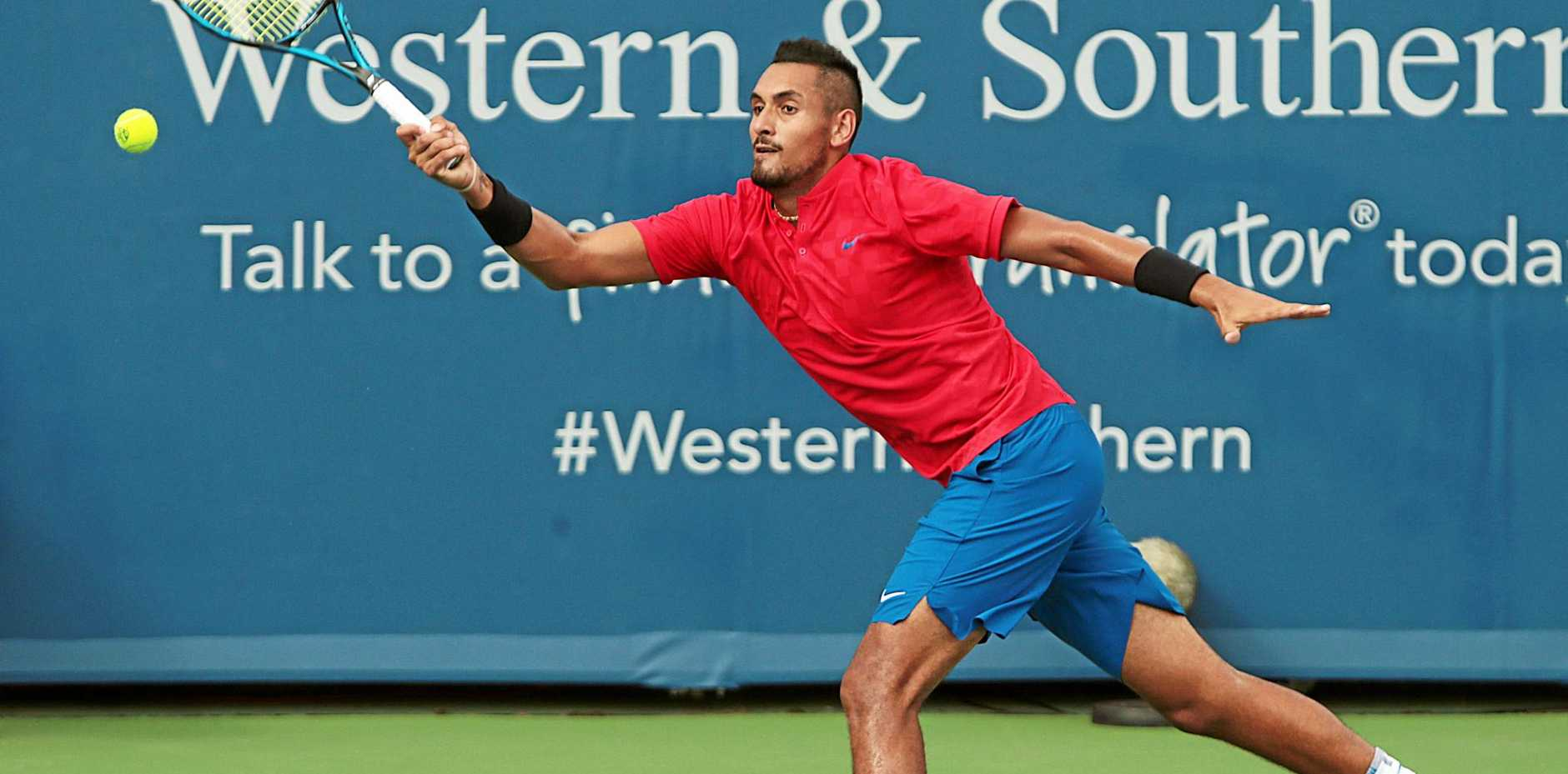 Nick Kyrgios in action.