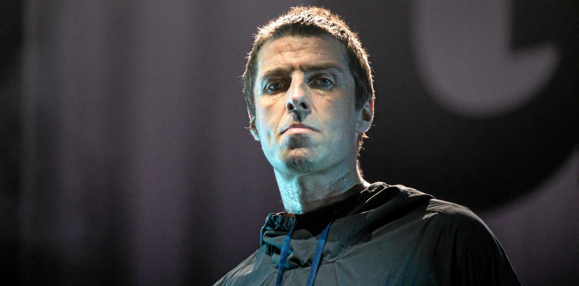 English musician, singer, and songwriter, former lead singer of the rock band Oasis, Liam Gallagher performs during his concert at National Olympic Sports Center in Beijing, China, 10 August 2017.