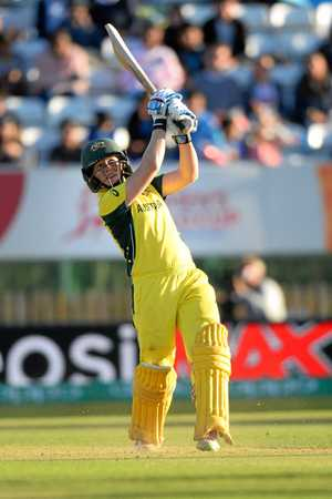 Alex Blackwell of Australia batting during the ICC Women's World Cup semi-final against India. Photo by Nathan Stirk/Getty Images