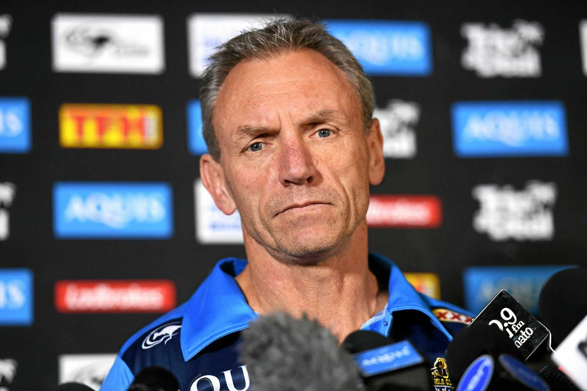 Neil Henry looks on during a press conference at Titans headquarters on the Gold Coast