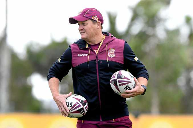 Kevin Walters looks on during the Queensland State of Origin team training session on the Gold Coast