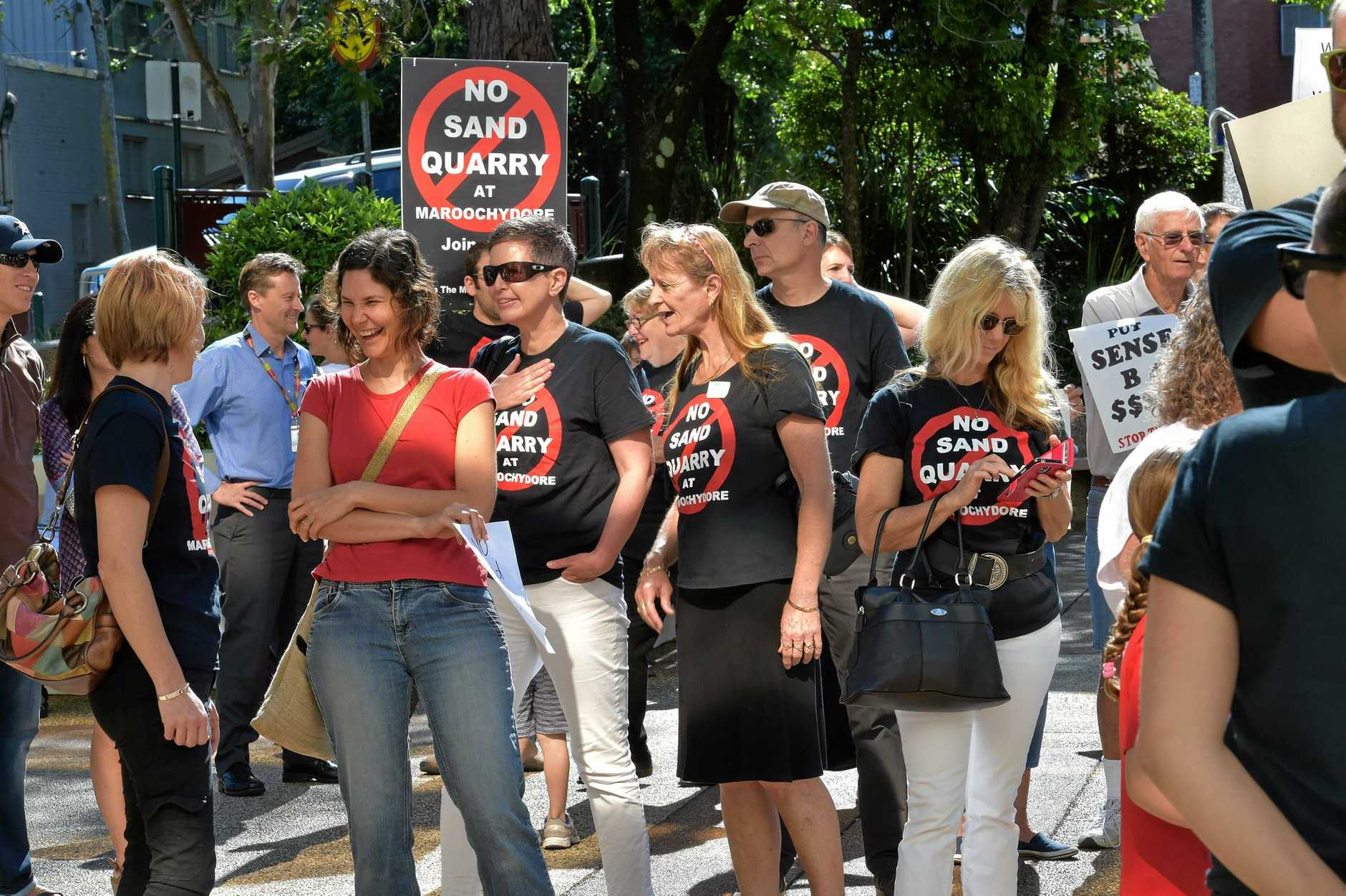 Sand mine opponents attend the Nambour Council Chambers.Cou