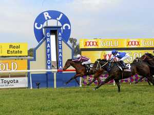 Matthew McGuren rode Siroccan Lad to victory in the Peter Schumacher CG&E Class 1 Handicap over 1006m for the William Pholi's Ballina stable at Clarence River Jockey Club on Monday, 21st August, 2017.Photo Bill North / Daily Examiner