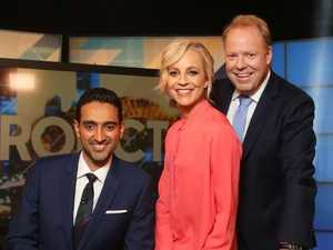 The Project presenters Waleed Aly, Carrie Bickmore and Peter Helliar.