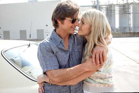 Tom Cruise and Sarah Wright in a scene from American Made.