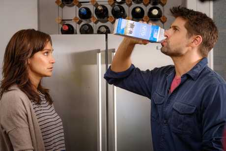 Nicole da Silva and Ryan Johnson in a scene from Doctor Doctor.
