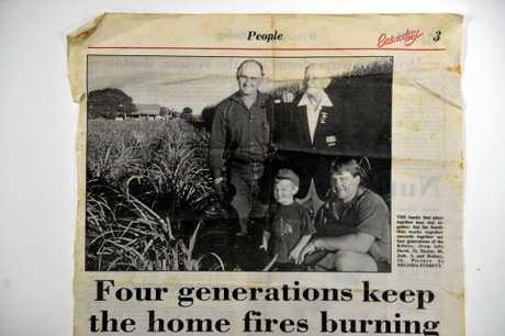 BACK IN '94: David, Hector, Josh and Rod Killer on the family farm.