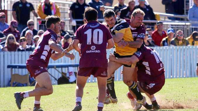 TUSSLE: The Gatton Hawks Reserve Grade side will contest another grand final after defeating Dalby 28-16 on Sunday afternoon.