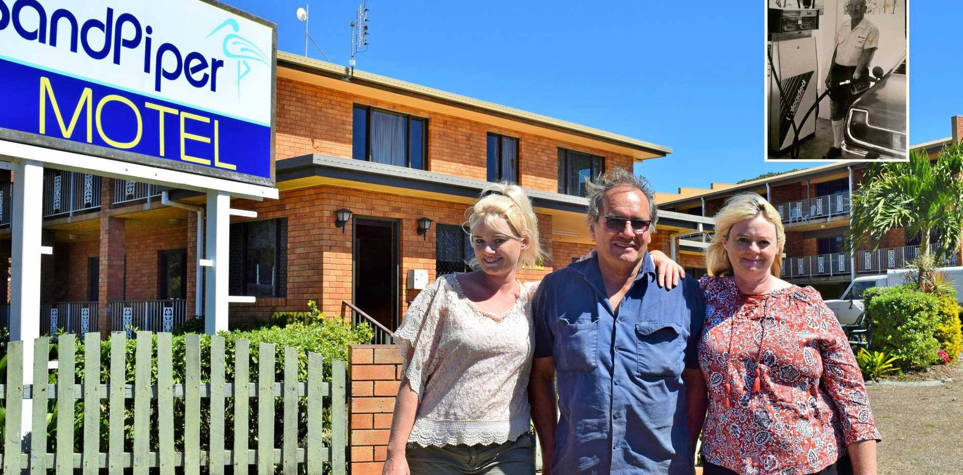 FAMILY BUSINESS: Liana Welsh, Kevin Jenkins and Gaynor Jenkins, the new owners of Sandpiper Motel. It was previously owned by Owen, Kevin's dad.