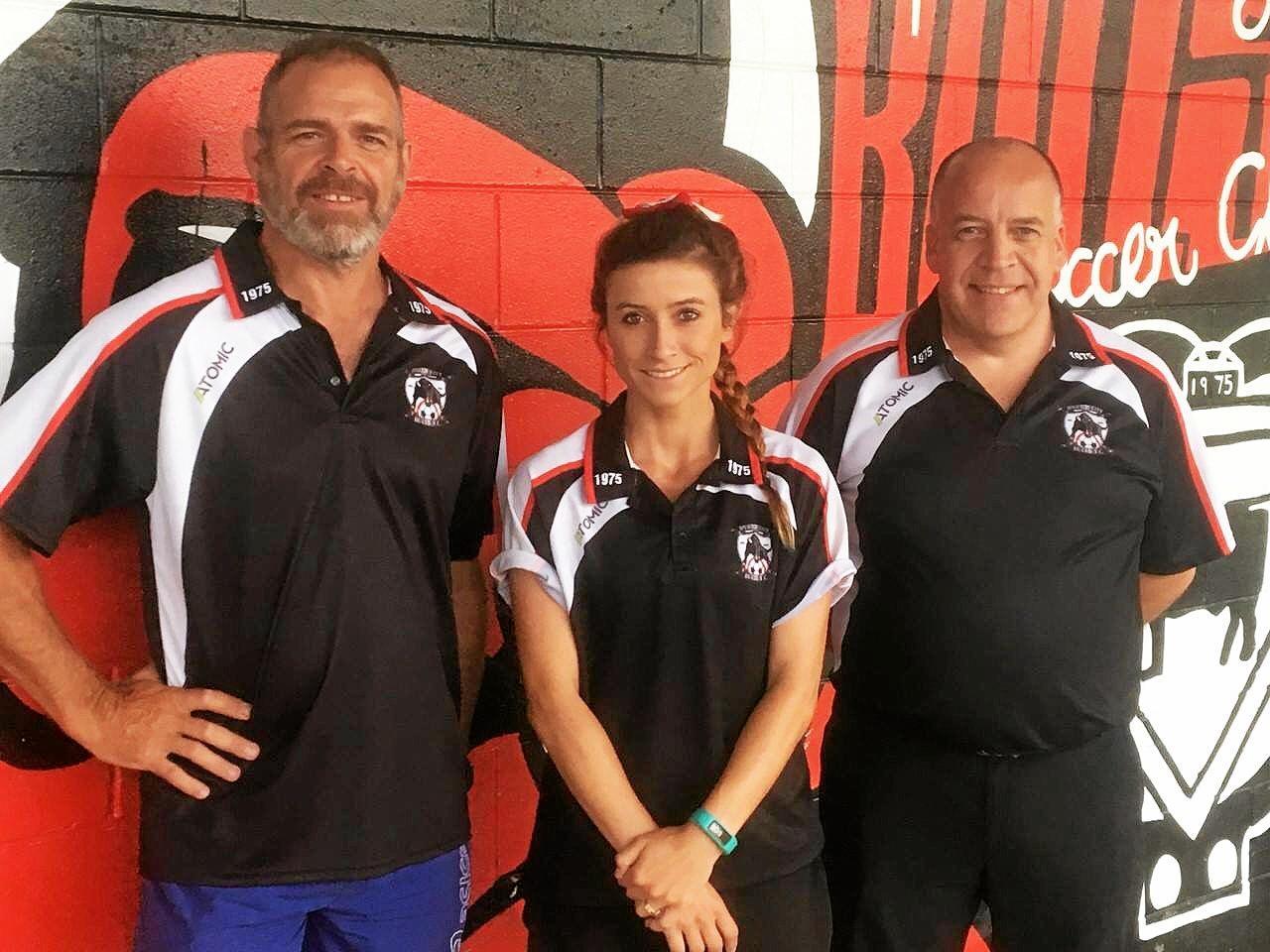 LEADING FOCUS: Ipswich City women's coaching staff Andy Haywood, Nikkita Cox and Pete Williams.