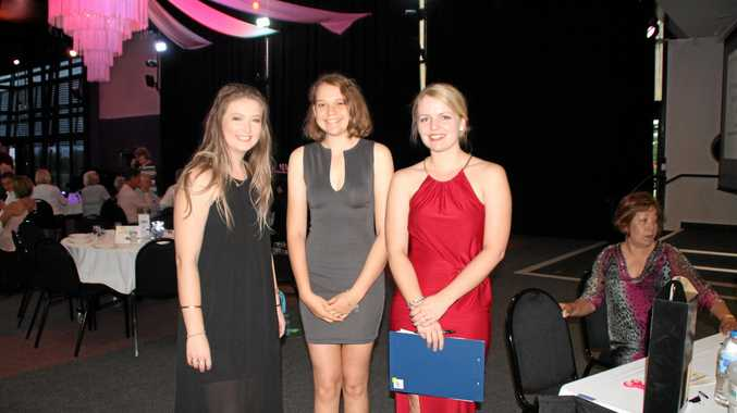 Enjoying last year's Fraser Coast Youth Achievement Awards were Tayla Barron, Julia Hill and Paige Smith.