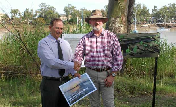 PLEASED: Rockhampton Region Councillor Tony Williams (left) and Rockhampton MP Bill Byrne are pleased to see the new North Rockhampton boat ramp facility get the green light.