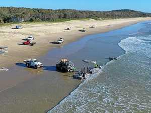 Drone-cam spies mass fish haul on Coast beach