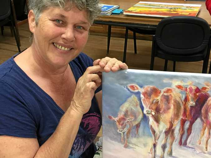 Buderim Craft Cottage member Jane Clarke with her work.
