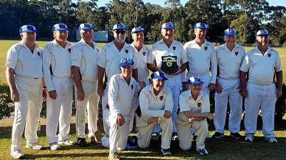 CHAMPIONS: The Toowoomba Grey Cavaliers celebrate winning the Queensland Veterans Cricket over 60 division two grand final.