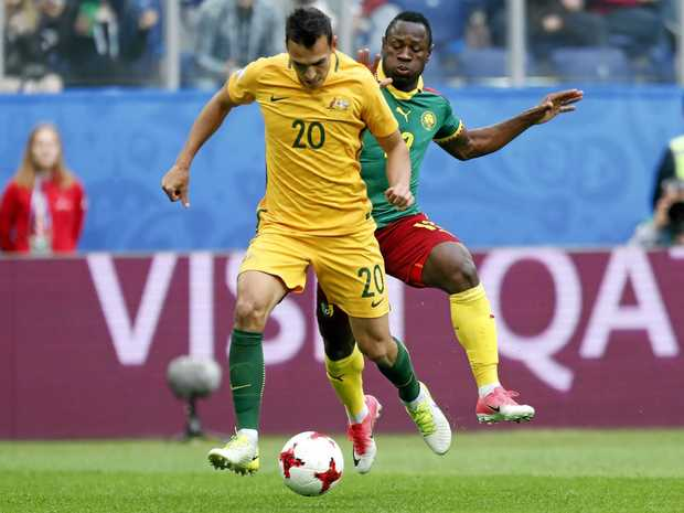 LINGERING INJURY: Key defender Trent Sainsbury is in doubt for Australia's next round of World Cup qualifiers