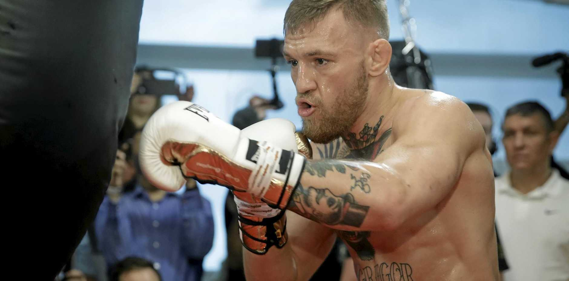 Conor McGregor in Las Vegas ahead of his fight with Floyd Mayweather.