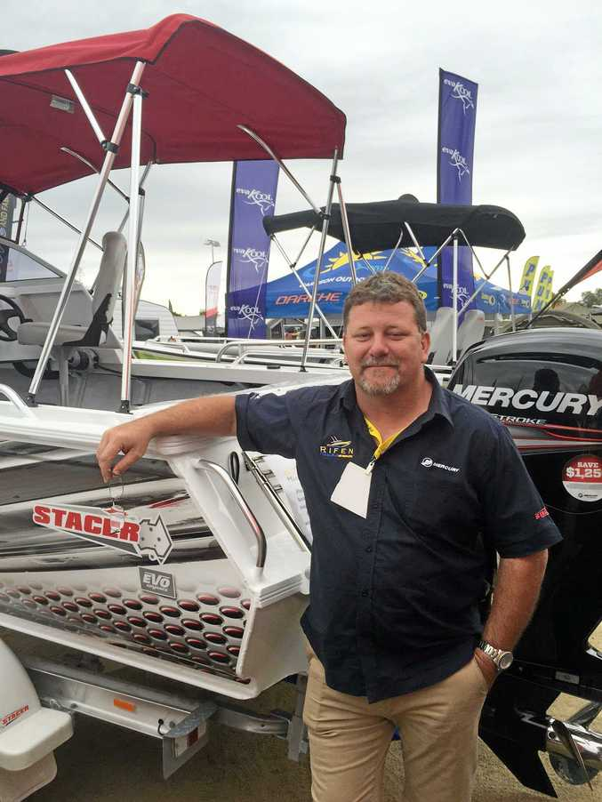 ON DISPLAY: Brent Riley from Rifen Boats will be at the Rockhampton Home Show this weekend.