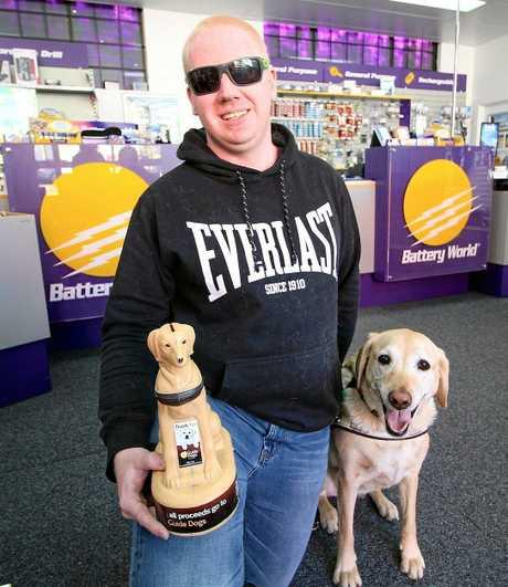 Glen Bracegirdle and guide dog Bronny.