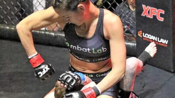 UNBEATEN: Nicole Szepesvary has won six in a row. Photo: Darren Winningham XFC
