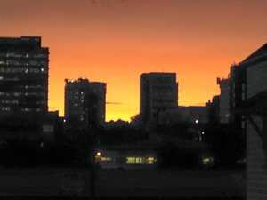 'Sunset over CBD'